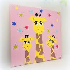 tableaux chambre bébé tableau chambre bébé fille girafes 30x30cm un grand marché