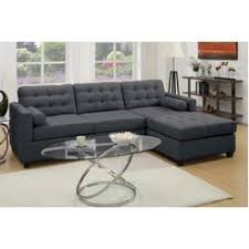 Black Tufted Sofa by Sofa With Reversible Chaise