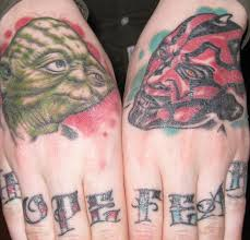 tattoo finger hope knuckle and hand tattoo hope fear star wars tattooimages biz