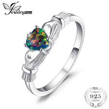 925 sterling silver v shaped heart promise ring size 5 6 7 8 9 10 jewelrypalace heart 0 6ct claddagh created black opal