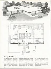 Atrium Ranch Floor Plans Vintage House Plans Mid Century Homes 1960s Homes House Plans