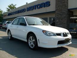 white subaru car 2006 aspen white subaru impreza 2 5i sedan 18368580 gtcarlot
