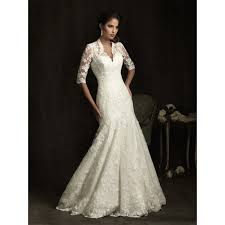 3 4 sleeve bridesmaid dresses bridals 8900 3 4 sleeve lace a line wedding dress