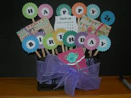 s birthday gift scrapping spot birthday gift card bouquet