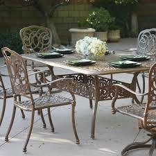 Round Patio Dining Set Seats 6 - patio dining sets aluminum trend pixelmari com