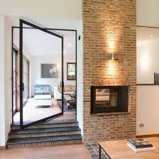 indoor door two way pivoting with central axis aluminum