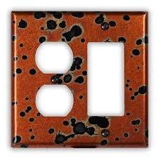 modern light switch covers decorative copper switch plates outlet covers hammered wall