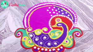 Peacock Home Decor Peacock Diwali Rangoli Design Beautiful Step By Step Rangoli