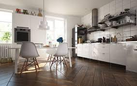 cuisine blanche parquet parquet massif cuisine affordable beautiful cuisine moderne