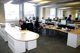 Beautiful Office Desks Cabinets Sleek Beautiful Office Interior Designs With White Desk