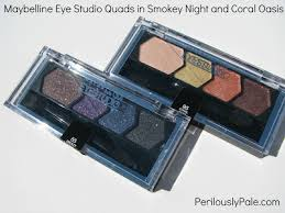 maybelline eye studio quads in smokey and coral oasis