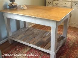 Diy Counter Height Table Pallet Plywood Workspace Table Joanne Inspired