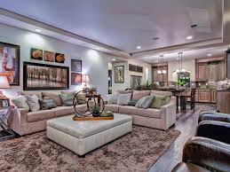 image of arranging living room furniture with corner fireplace and