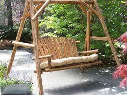 modern outdoor patio swing yard swing stand roof optional swings