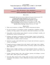Resume For Substance Abuse Counselor Resume Luz Torrey Counselor
