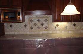 kitchen subway tiles with mosaic accents backsplash tumbled