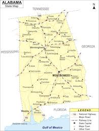 Major Cities Of Usa Map by Reference Map Of Alabama Usa Nations Online Project Maps Of
