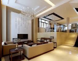 living room nice chandelier on the white ceiling japanese living