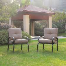 cloud mountain set of 2 club chairs outdoor patio wrought iron