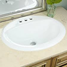 highpoint collection white oval porcelain vitreous china drop in
