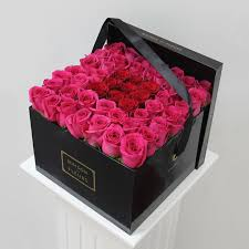 flowers in a box wholesale delivery bouquet gift cardboard for flower packaging box