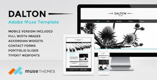 adobe muse mobile templates dalton premium adobe muse template by musethemes themeforest