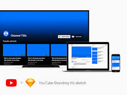 youtube branding kit for sketch freebie download sketch resource