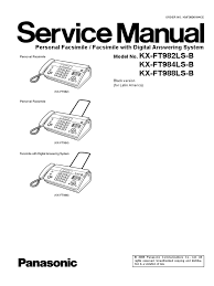 panasonic kx ft982ls 984ls 988ls service manual repair analog