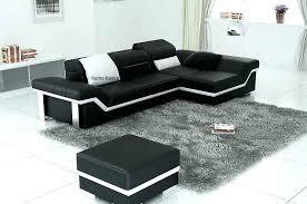 canape angle noir et blanc canape d angle noir cuir canapac dangle noir en cuir 4 personnes