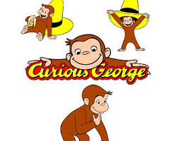 curious george svg etsy