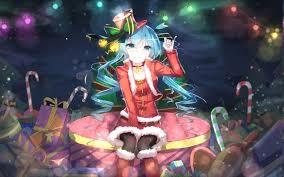Anime Christmas Tree Ornaments Hatsune Miku Vocaloid Anime Girls Christmas Blue Hair Blue