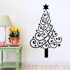 m 4 festive tree flower pvc diy wall stickers