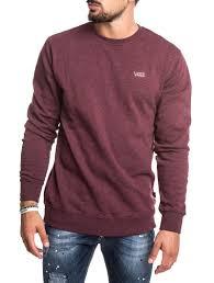 vans sweater s clothing mn basics crew sweater in bodeaux vans