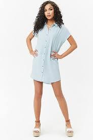 light blue striped polo dress casual dresses t shirt dresses cami dresses more forever 21