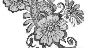 simple flower designs pencil drawing cool and easy flowers to draw