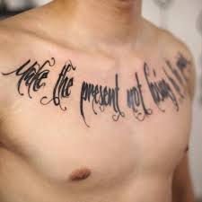 tattoo lettering font writing chest tattoo tattoo for men script
