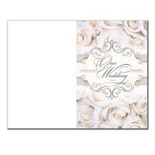 blank wedding programs blank wedding program 6361 pack of 250 wedding programs fast