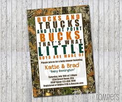baby shower sports invitations ducks trucks and eight point bucks baby shower invitation