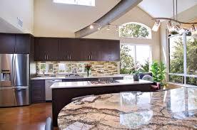 Slab Door Kitchen Cabinets by Contemporary Kitchen Dark Maple Slab Door Modern Kitchen
