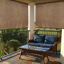 Exterior Shades For Patios Radiance Cocoa Indoor Outdoor Roller Exterior Sun Shade Hayneedle
