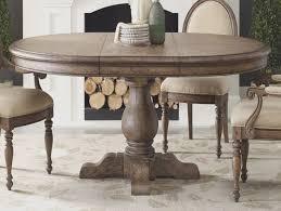 Distressed Pedestal Dining Table Homelegance Dandelion Pedestal Dining Table In Distressed