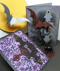 halloween greeting cards lisa liza lou designs glitter u0027n glue halloween greeting cards