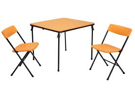 Cosco Outdoor Products Cosco Outdoor - cosco home and office products 3 piece orange center fold table