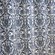 amazon com navy blue and white damask drape one rod pocket