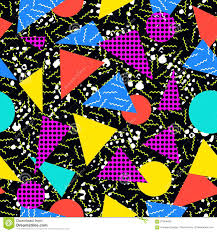 retro 80s seamless pattern background stock vector image 57384167