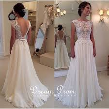 formal wedding dresses ivory open v neck lace prom dress wedding dress