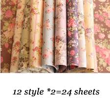 pretty wrapping paper 24 sheets lot diy pretty floral pattern wrapping paper creative