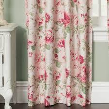 english floral tea rose room darkening window treatment english