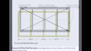 4x8 lean to shed plans instant pdf download youtube