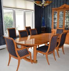 hickory white u0027genesis u0027 formal dining table with eight chairs ebth